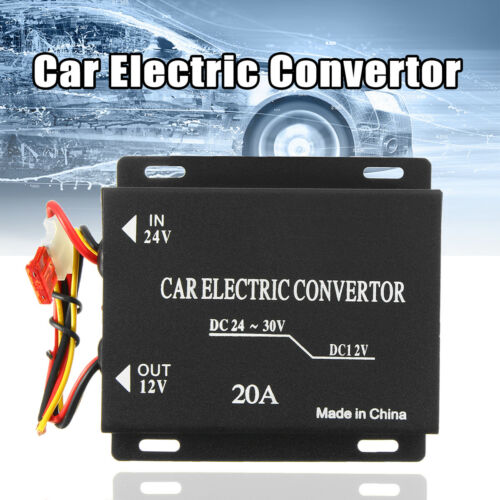 240W 20A Car Electric Convertor DC 24V to 12V Power Supply Inverter Transformer