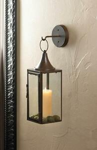 Image Is Loading Brown Iron Al Sconce Wall Hook Hurricane Candle