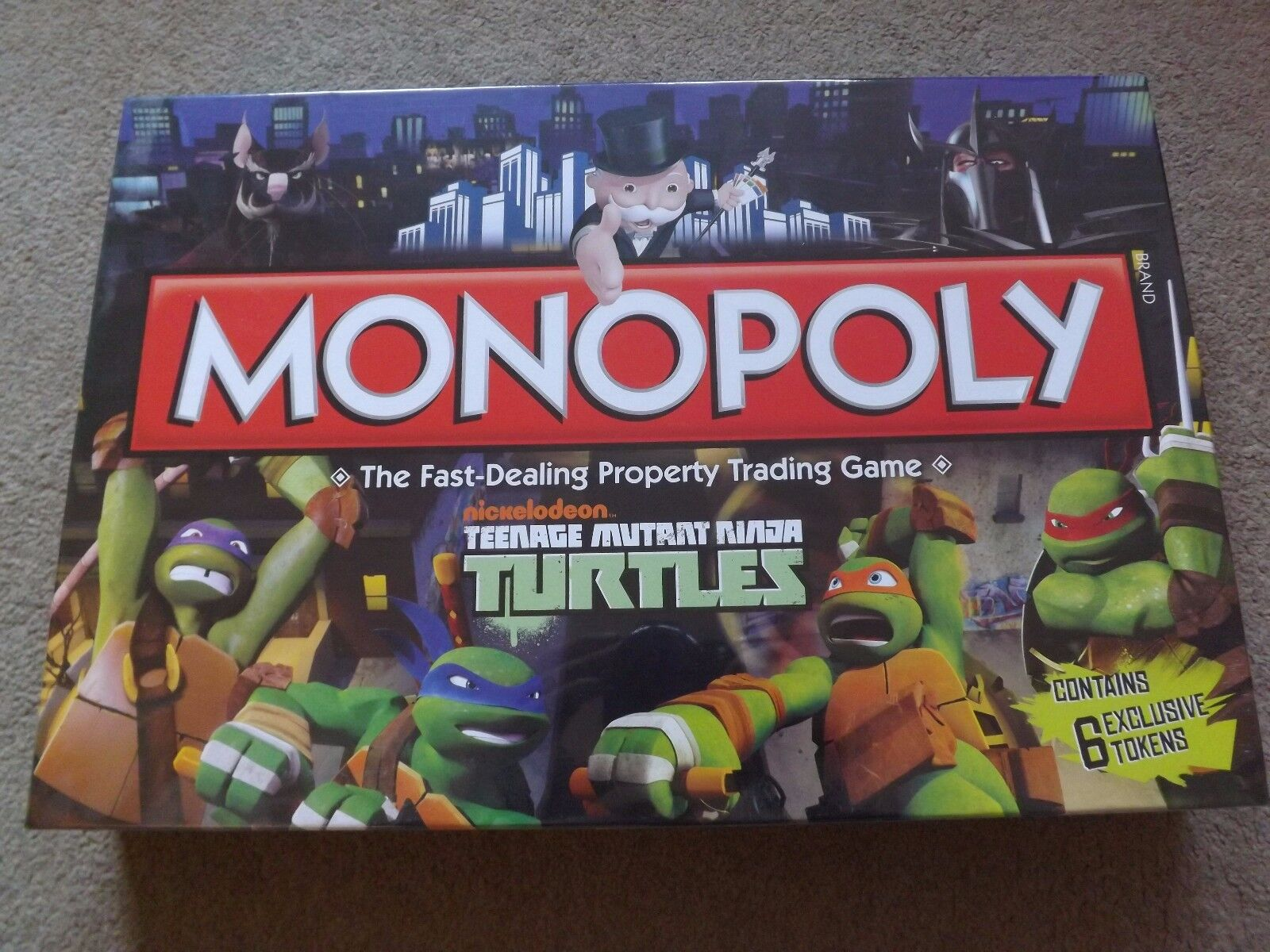 MONOPOLY TEENAGE MUTANT NINJA TURTLES BOARD GAME BRAND NEW