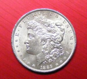 1880 P UNCIRCULATED MORGAN DOLLAR FROM ORIGINAL ROLL-NO TONING