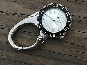 Folio Pocket Watch Analog Hand Watch Silver Tone Japan Movement Watch