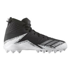 Nuevo-Juvenil-Adidas-Monstruo-Medio-Md-Futbol-Lacrosse-Tacos-Negro-Plata-Sz-5