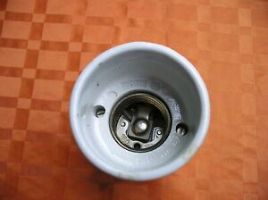 Alte Porzellan Lampenfassung Schalter Halterung E27 Vintage Industrie Loft Deko