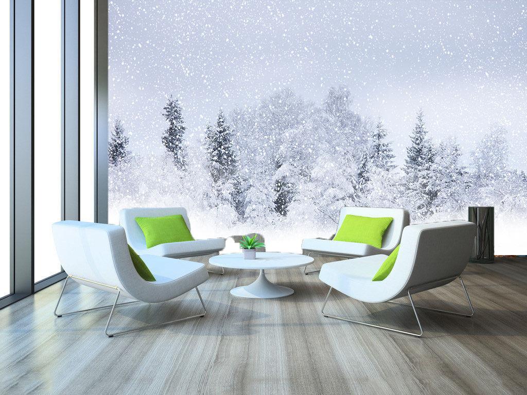 3D Verschneiter Wald 84 Tapete Wandgemälde Tapete Tapeten Bild Familie DE Summer