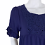 thumbnail 4 - Altar'd State Blue Crochet Lace Bohemian Boho Babydoll Short Sleeve Dress Small