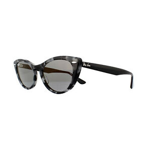 9bd323cad8098 Ray-Ban Sunglasses Nina RB4314N 1250Y5 Havana Grey Blue Mirror Gold ...