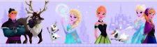 FR3503-3 Disney Deco Frozen Lilac Wallpaper Border Elsa Ana Sven Kristoff