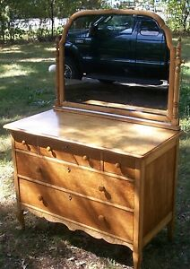Perfect Image Is Loading Spectacular Birdseye Maple Furniture Antique  Dresser Made In