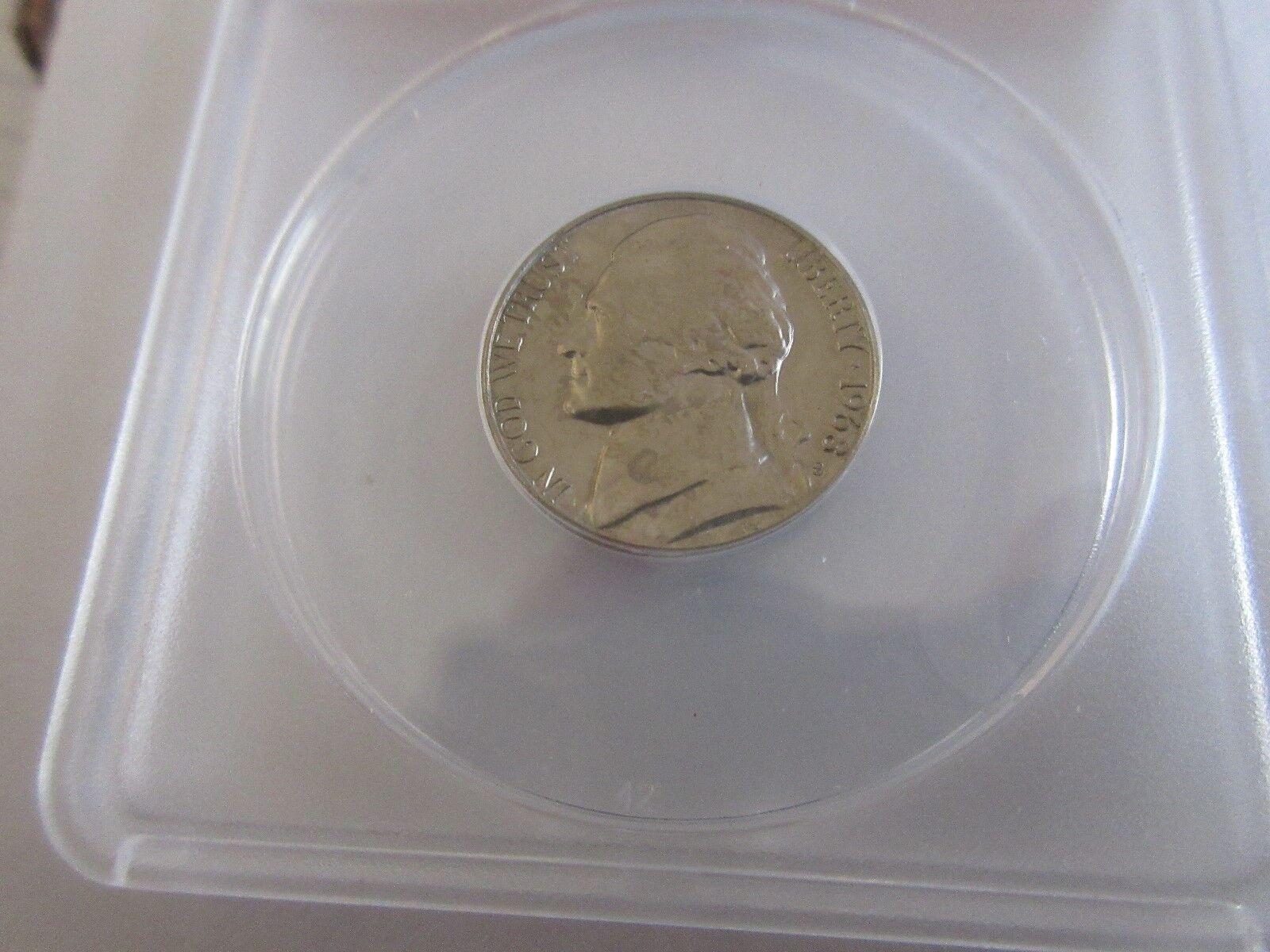 1968-S , Jefferson Nickel , MS 64 , Anacs