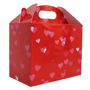 10 X Red Love Heart Gable Gift Box Valentine S Day Gift Hamper