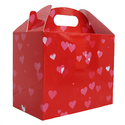 Love Heart Gable DIY Gift Hamper Basket 10 x RED VALENTINE/'S DAY GIFT BOXES