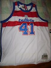 BALTIMORE BULLETS #41 WES UNSELD-MITCHELL/NESS  NBA JERSEY-size 60 NWT! JORDAN