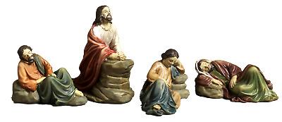 Set Gesù prega giardino ulivi,4 soggetti resina Presepe Pasquale 10,3cm,by Paben