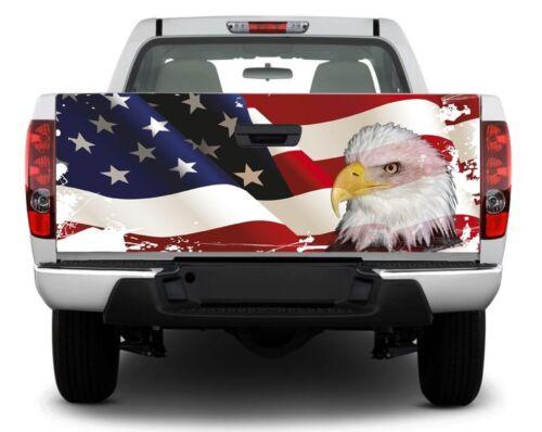 US flag USA bald eagle Tailgate Decal Sticker Wrap Pickup Truck SUV