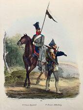 Preußen Militär Ulanen Regiment zu Dohna Lanze Pionier Bajonett Tschako Säbel