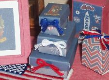 Dollhouse Miniature Boy Firecracker Figurine 4th of July Patriotic Handcrafted