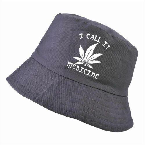 Marihuana Bucket Hat Men Cotton Weed Funny Fisherman Hats Summer Cannabis Cap