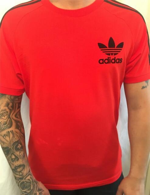 adidas Mens Originals California Tee T-shirt Red BK7544 UK Size ... 4f93570860f9
