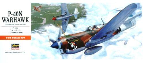 CURTISS P-40 N WARHAWK #139 1//72 HASEGAWA USAAF MKGS