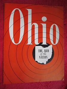 LATE 1940's OHIO HUB OF THE NATION 12 PAGE BROCHURE