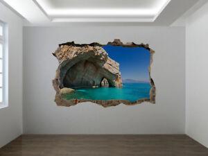 Precioso Mar Paisajes Foto Agujero Pared Pegatina Mural Para Pared