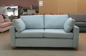 Willow-amp-Hall-Somerton-Designer-Light-Blue-Fabric-Static-3-Seater-Sofa