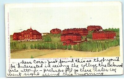 washington state college pullman wa 1908 vintage antique postcard e34 ebay ebay