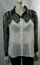 Ladies Dedigned By CLUB L see through put cuff/ collar shirt/ blouse Size 18 New