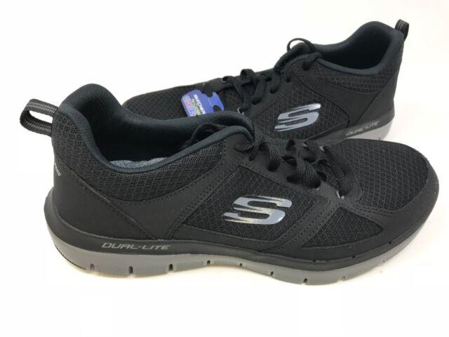 NEW! Skechers Men's FLEX ADVANTAGE 2.0 LINDMAN Shoes BlkCharcoal #52189 177A az
