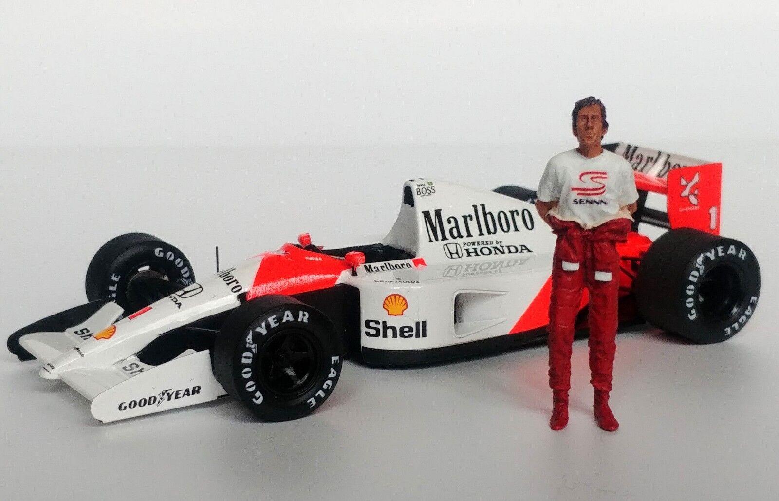 1 43 Ayrton Senna McLaren Honda figurine figure debout 1988 1990 1991 1993 MFH
