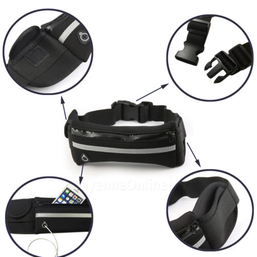 GYM TRAVEL SPORTS ACTIVE WAIST BELT FANNY PACK POUCH For Wiko View2 Plus