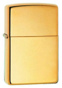 NEW-Zippo-Lighter-034-High-Polish-Brass-034-254B-Gold-Free-Shipping-in-Australia