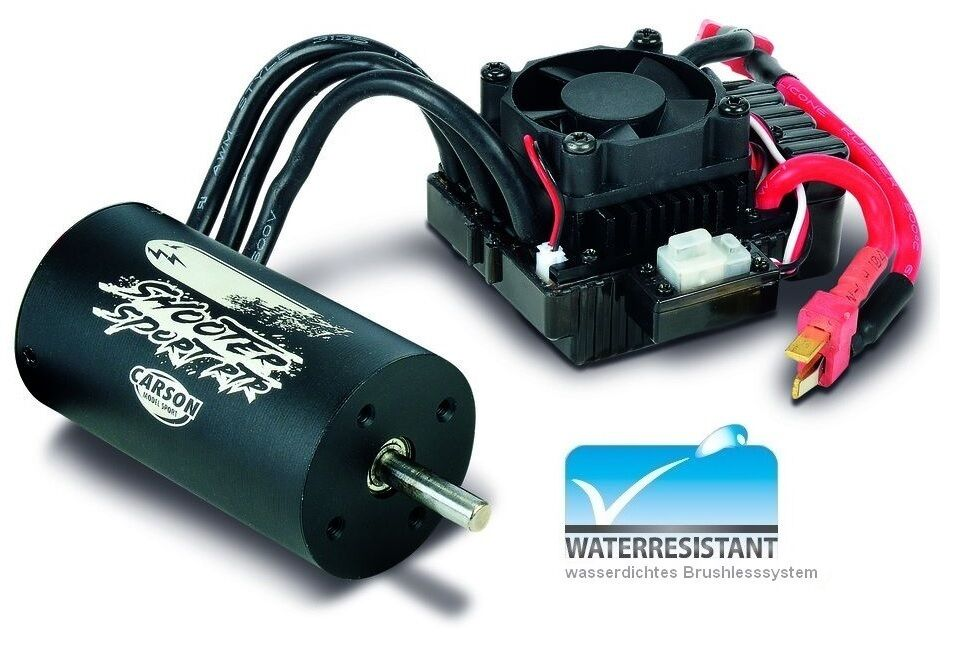 Carson Dragster Sport brushless-combo 4S 1 8 Waterproof - NEW
