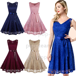 Lace-Bridesmaid-Party-Dresses-Short-Homecoming-Formal-Prom-Cocktail-Dress-V-Neck