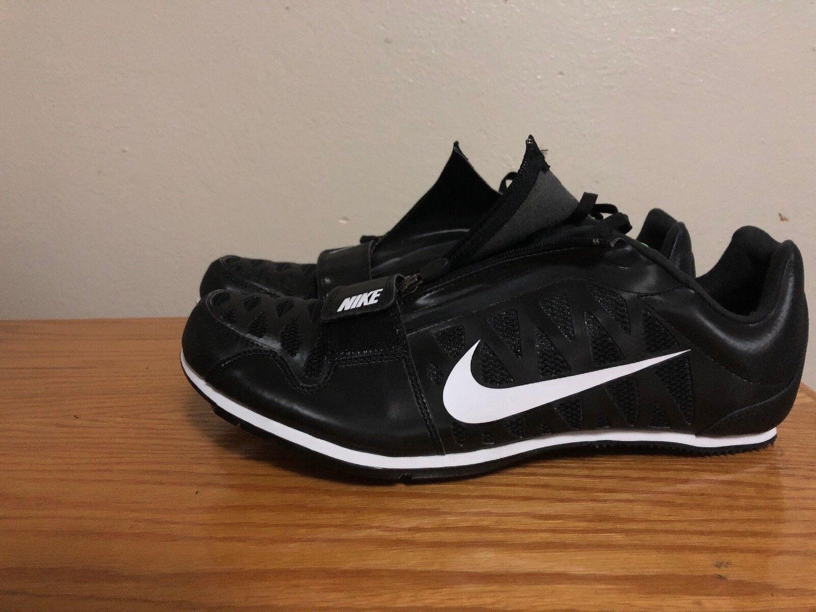 Nike Zoom Long Jump 4 Track Spikes 415339-017 Men's Size 7 Black White