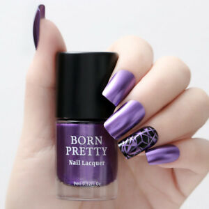9ml-BORN-PRETTY-Mirror-Effect-Nail-Polish-Metallic-Varnish-Chrome-Too-Much-Metal