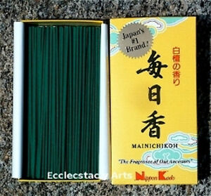 Nippon-Kodo-Mainichi-koh-Incense-300-Sticks-Sandalwood-Mainichkoh-Incense-NEW