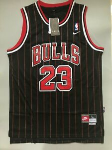 huge selection of 7f56b 67f42 Details about New Men's Michael Jordan Chicago Bulls Striped Throwback  Swingman Jersey S M L