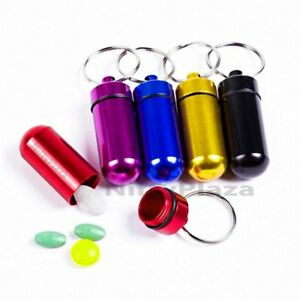 Colorful-Pill-Box-Bottle-Holder-Mini-Waterproof-Aluminum-Container-Keychain-Case