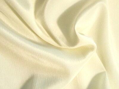 NEW Beautiful Ivory Cream Pure Silk Crepe De Chine Satin Fabric Bridal Dress 44