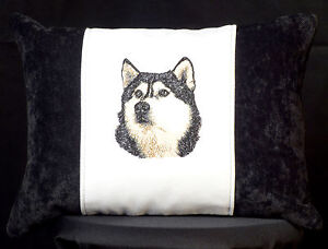 Embroidered-Accent-Husky-Accent-Pillow-New-12x16-Insert
