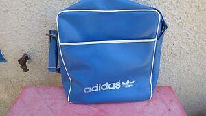 421770701c sac de voyage bag adidas simili cuir bleu ciel vintage 70's | eBay