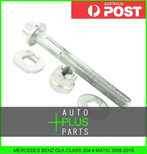 Fits MERCEDES BENZ GLK-CLASS 204 4 MATIC Cam Camber Adjustment Bolt Plate Kit