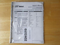 Bobcat Model Ba2t-e Hand Carry Air Compressor Owner's Manual 2002 sealed