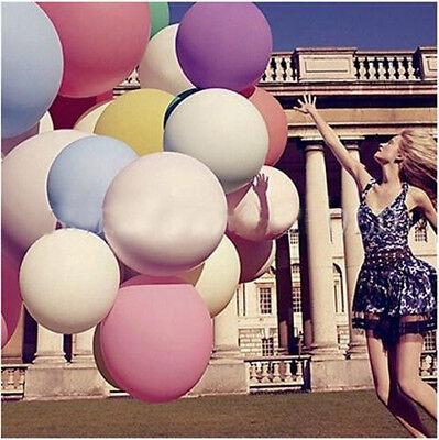 "10Colors 1PC 36"" Giant Big Ballon Latex Birthday Wedding Party Helium Decoration"