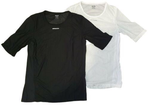 Spexcel Noir//Blanc Résille à Manches Courtes Couche De Base ou Turbo Trainer Indoor Jersey