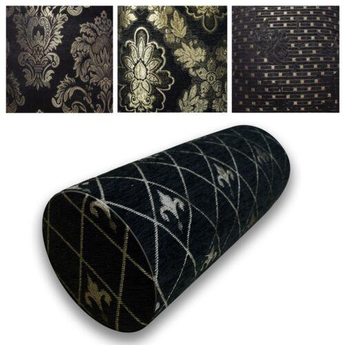 Bolster Cover*Damask Chenille Neck Roll TubeYoga Massage Pillow Case Custom*Wk10