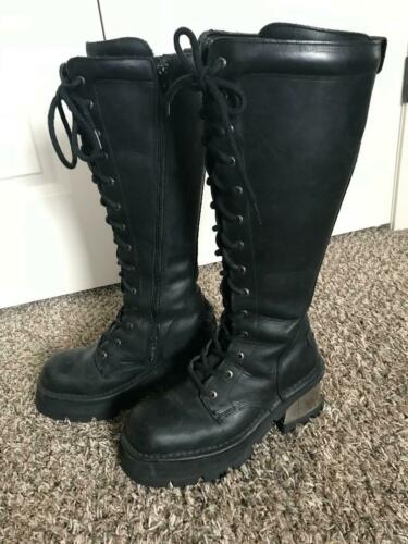 New Rock Women's Leather Boots Size 40 / US 9-9.5