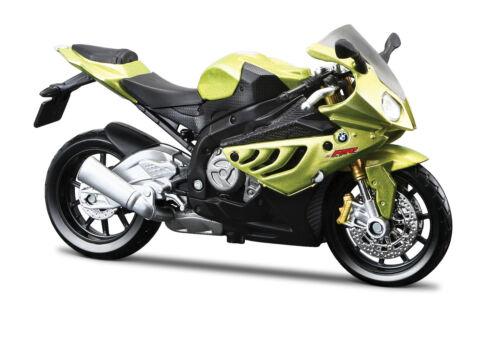 BMW s1000rr vert 1:18 Moto Modèle De Maisto