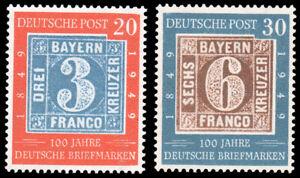 Germany-667-668-MNH-CV-80-00-1949-BAVARIA-ex-Perfectum